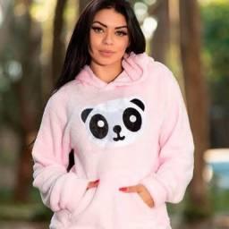 Blusa com capuz panda ?