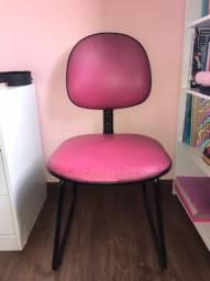 Cadeira Escritório Simples - Cor-de-rosa