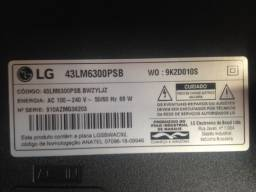 Smart tv LG 43 polegadas ótimo  estado funcionando perfeitamente modelo 43lm6300psb