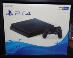 PS4 slim na caixa, estado do novo
