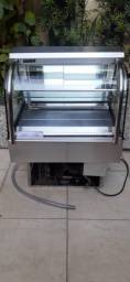 Estufa refrigerada fria expositora impecavel  220V com regulagem estado de nova