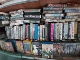 Filmes fitas vhs varios titulos lote com 50 unidades