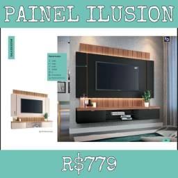 Painel Ilusion Sala de estar escritório 123 TV