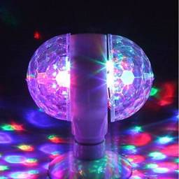 Título do anúncio: Lâmpada giratória rgb dupla, para sua festa !