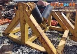 Estrutura metálica com roletes