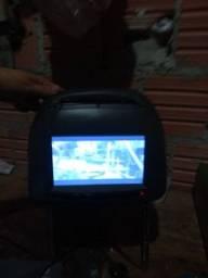 Encosto de cabeça de carro com dvd