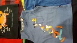 Camisetas infantis semi novas  combo 27 peças 150rs
