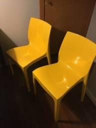 Duas Cadeiras Tramontina Alice amarela