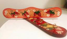 Porta Chaves Pano Toalha Decoupage - Arte em Decoração