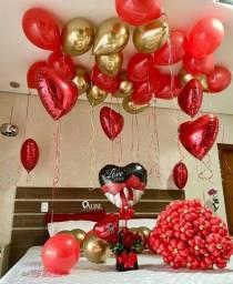 Balões a gás dia dos namorados