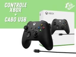 Controle Xbox Series S/X com cabo 2,7m - Preto | Lacrado