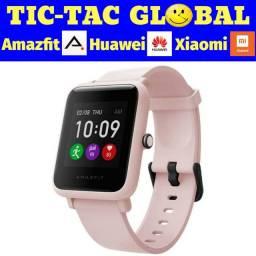 Promoção!!! Amazfit Bip S - cor Rosa Pink -versão global-novo lacrado- Relógio Smartwatch
