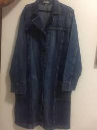 2692e53f9b Casaco  SOBRETUDO jeans super novo!