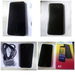 Alcatel A3 com acessórios(caixa original, fone de ouvido e cabo usb)
