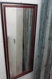 Espelho retangular tamanho médio 30 cm x 75 cm