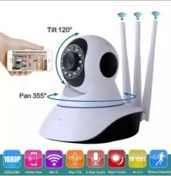 Ip Camera Wifi 3 Antenas Hd 720p App Yoosee Noturna + garantia!