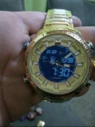 Baixou promoção hoje e amanhã relógio Naviforce original analógico e digital