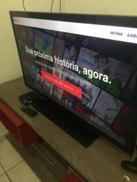 Tv Samsung Led de 40 mais box tv que transforma ela em smart
