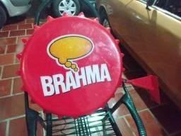Luminoso Antigo placa dupla face cerveja Brahma