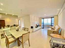Apartamento MOBILIADO com 117m², vista para o mar, 3 quartos sendo 2 suítes - Tambaú