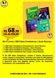 KIT 4 LIVROS | 500 FATOS FANTÁSTICOS | ANNE ROONEY|