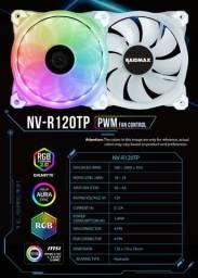 Cooler Fan 120mm Raidmax NVR120TP c/ Led RGB