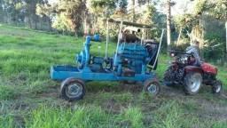 Motor e bomba de irrigação estacionário