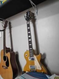 Guitarra strinberg dourada