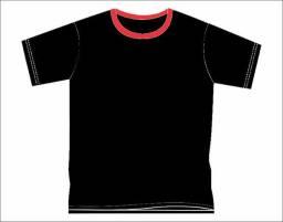 Camiseta silkada 100% algodão cor preta - americana - sp