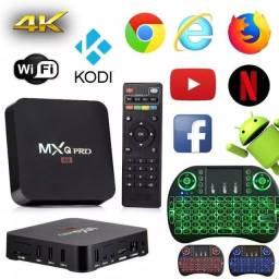 Tv box 5g pro 128 gigas 4k super máquina novos entregamos