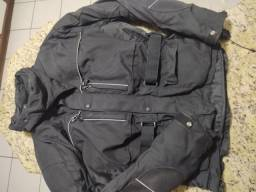 Jaqueta moto + calça impermeável