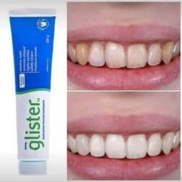 Creme dental glister ótimo contraste cáries