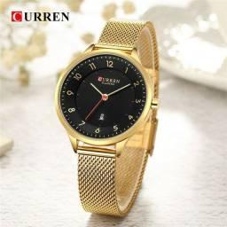 Relógio Feminino Fashion Dourado a prova dágua