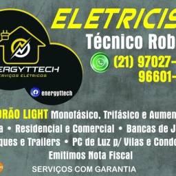 Título do anúncio: Eletricista Montagem inclusa e Todos os Materiais Instalação e Pedido de Relógio Light