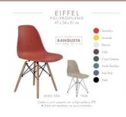 Cadeira sem braço e base de madeira em variadas cores e super prática Direto da fábrica