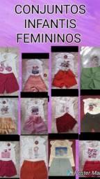 Kit com 10 conjuntos infantis para meninas