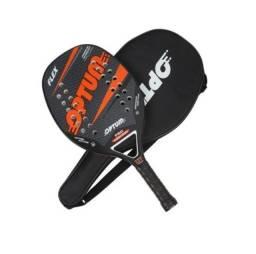 Raquete De Beach Tennis - Optum PRO Flex 2021 - Carbon Frame + Capa