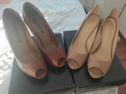 Bolsa mônica Sanches e sapatos cravo e canela 39