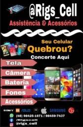 Troca de Display, Conectores,  baterias, etc... dos celulares