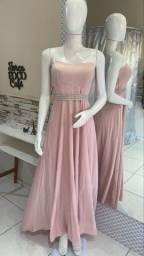 Título do anúncio: Vestido longo rosa