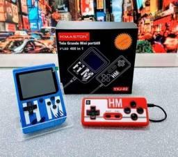 Mini Game Retro 400 Jogos + Controle - Liga na Tv - Mario - PacMan