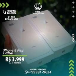 IPHONE 8 PLUS COM 128GB -LACRADO (BRANCO OU DOURADO) 1 ANO - GARANTIA