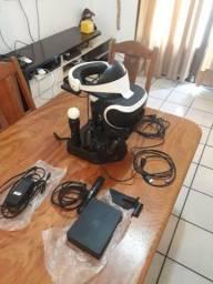 VR PS4 + 2 MOVES + SUPORTE carregador e apoio + câmera + Jogo SKYRM