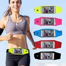 Cinto esportivo atrio com porta celular smartphone.<br>(entrega grátis)<br>