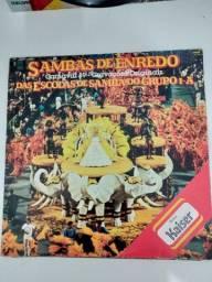 Lp Sambas de Enredo das Escolas de Samba grupo 1A 1989 RJ