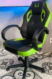 Título do anúncio: Cadeira Gamer Warrior, giratória, ajustável e almofadada