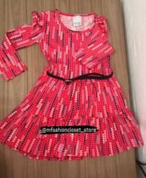 Vestido infantil com cinto