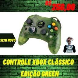 Controle Xbox clássico edição green