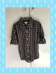 Camisa quadriculada 9 à 12 meses