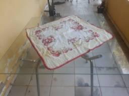 Mesa para cozinha de vidro